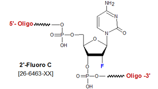 picture of 2'-Fluoro deoxycytosine (2'-F-C)