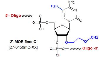 picture of 2'-O-methoxy-ethyl 5me Cytidine-(2'-MOE meC)