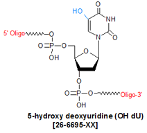 picture of 5-hydroxy deoxyuridine (OH dU)