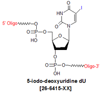 picture of 5-iodo deoxyuridine dU
