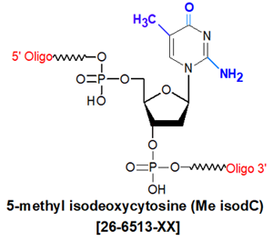 picture of 5-methyl isodeoxycytosine (Me iso dC)