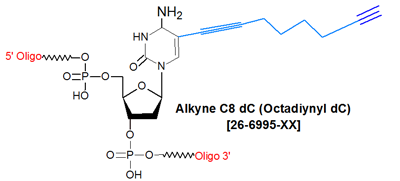 picture of Alkyne C8 dC (5-Octadiynyl-dC)