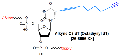 picture of Alkyne C8 dT (5-Octadiynyl-dT)