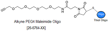 picture of Alkyne-PEG4-Maleimide Oligo