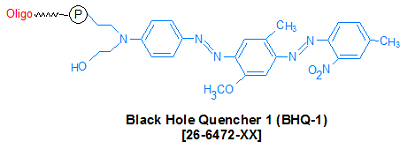 picture of BHQ-1 (Black Hole Quencher 1, 3')
