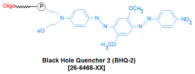 picture of BHQ-2 (Black Hole Quencher 2, 3')