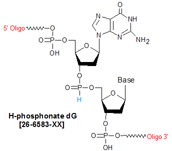 picture of H-Phosphonate dG. dG(H-p)