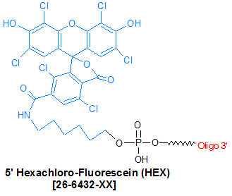 picture of HEX (Hexachloro-Fluorescein)