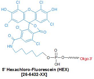 picture of HEX-NHS (Hexachloro-Fluorescein)