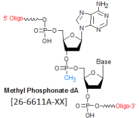 picture of Methyl Phosphonate dA (mp)dA
