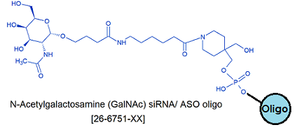 picture of GalNAc Oligo N-Acetylgalactosamine C3