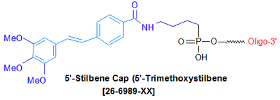 picture of Stilbene Cap: Trimethoxystilbene Cap (5')