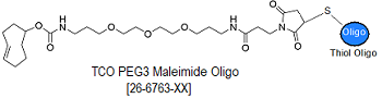 picture of TCO-PEG3 Maleimide Oligo