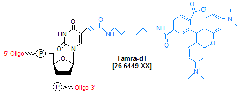picture of Tamra-dT (Carboxytetramethylrhodamine-dT)