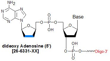 picture of dideoxy A 5' (2'3' ddA)