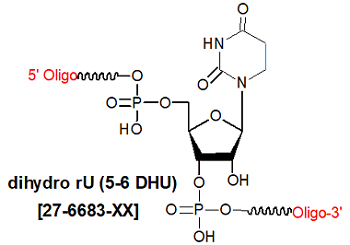 picture of dihydro rUracil (5-6 DH rU)