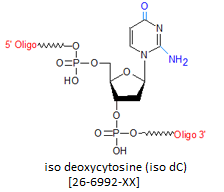picture of iso deoxycytosine (iso dC)
