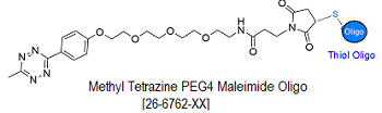 picture of Tetrazine Methyl PEG4 Maleimide Oligo